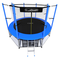 Каркасный батут на пружинах - i-JUMP 14ft BLUE, фото 1
