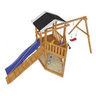 Деревянный игровой комплекс для детей - САМСОН БАУНТИ, горка, качели, песочница, трап, фото 1