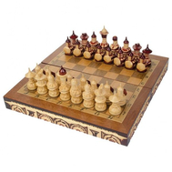 Шахматы резные ручной работы дорожные, фото 1