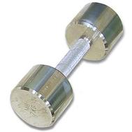 Гантель хромированная для фитнеса 10 кг MB-FitM-10, фото 1