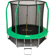 Уличный батут с защитной сеткой - SWOLLEN PRIME 8 FT, каркасный, мат, лестница в комплекте, фото 1