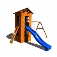 Детская площадка МОЖГА СПОРТИВНЫЙ ГОРОДОК 8 C УЗКОЙ ЛЕСТНИЦЕЙ, фото 1