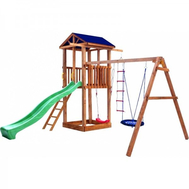 Детская площадка МОЖГА СПОРТИВНЫЙ ГОРОДОК 1 С КАЧЕЛЯМИ КРЫША ТЕНТ, фото 1