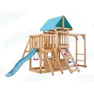 Игровая площадка BABYGARDEN с балконом, закрытым домиком, рукоходом, скалолазкой и горкой 1.8 м, фото 1