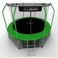 Компактный складной батут на металлокаркасе - I-JUMP ELEGANT 10FT GREEN, фото 1